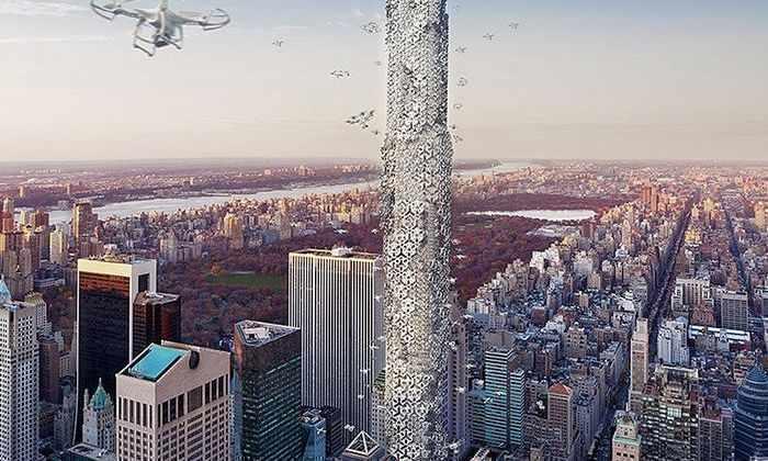 Улей для дронов на Манхэттене