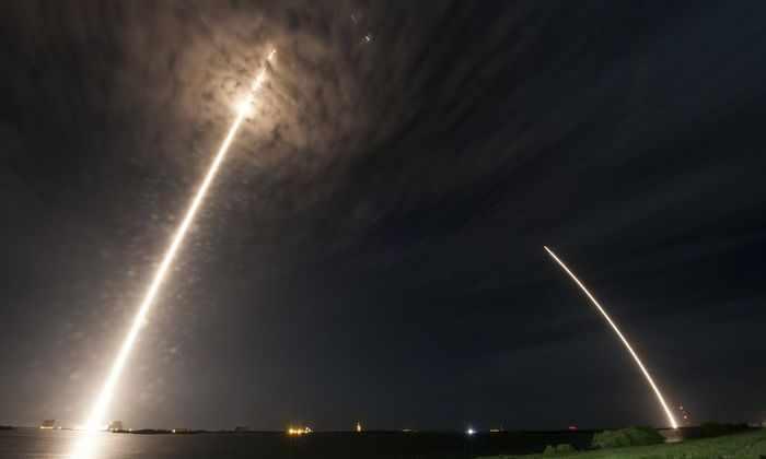 Первая ступень Falcon 9 совершила повторную посадку на сушу
