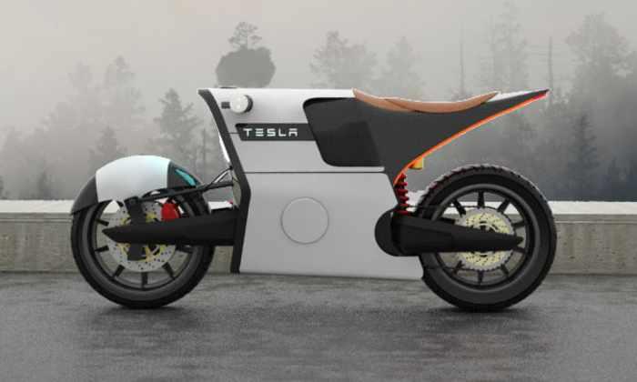 Мотоцикл Tesla от итальянского художника
