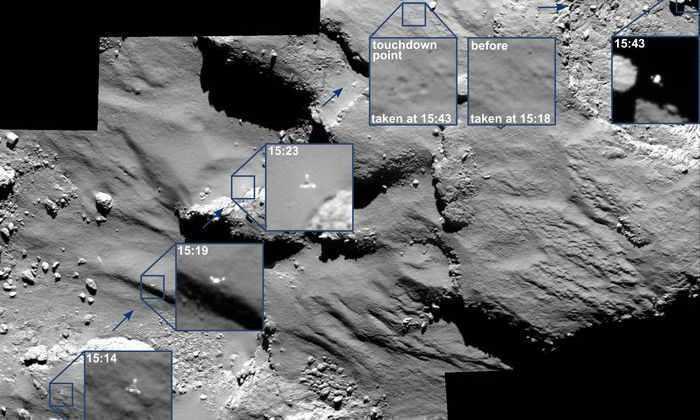 «Розетта» нашла «медузу» и «морского конька» на комете Чурюмова-Герасименко