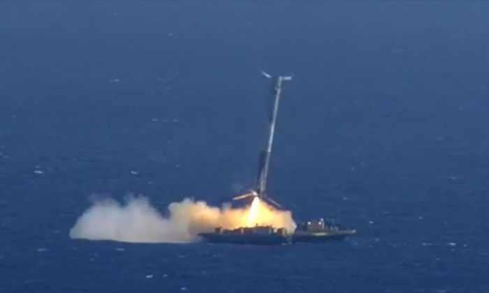 SpaceX успешно посадила ступень Falcon 9 на платформу Just read the instructions