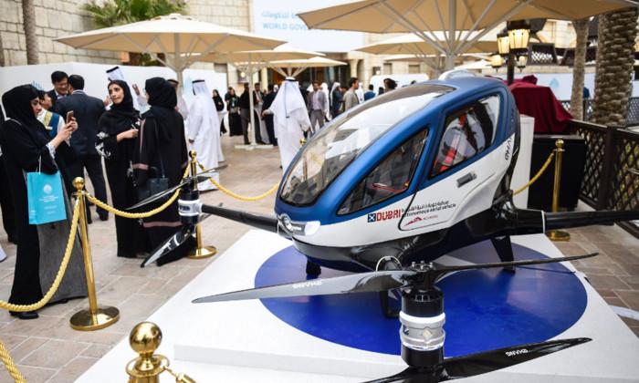 Пассажирские беспилотники начнут летать над Дубаем летом 2017 года