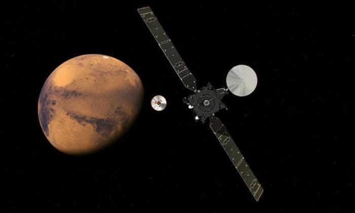 Опубликована видео-анимация посадки «Скиапарелли» на Марс