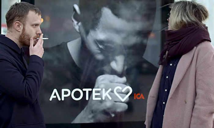 В Швеции билборд «закашлял» от сигаретного дыма