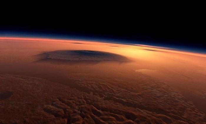 Марсианский вулкан извергался непрерывно в течение 2 миллиардов лет