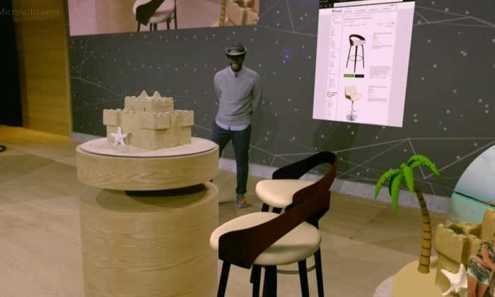 Microsoft позволит «переносить» виртуальные трехмерные объекты в реальную среду