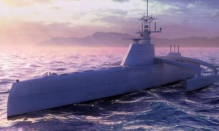 Видео: первый в мире самоуправляемый военный корабль