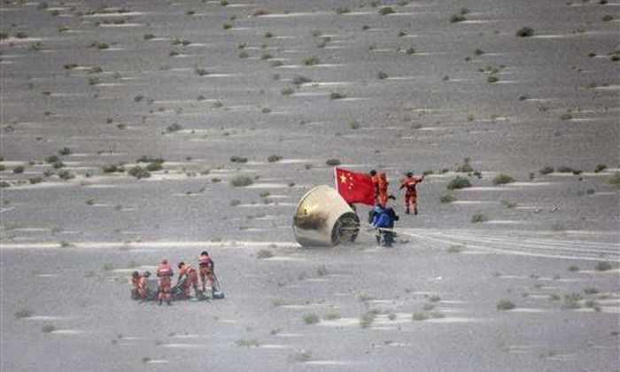 Китайский экспериментальный зонд благополучно вернулся на Землю