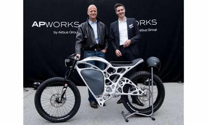 Airbus напечатала электромотоцикл на 3D-принтере