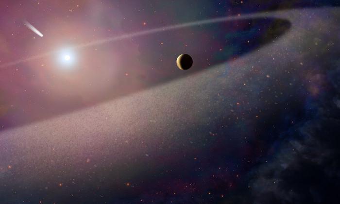 «Хаббл» увидел, как белый карлик разорвал на части гигантскую комету