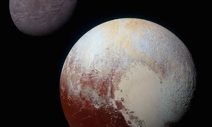 Планета Плутон и луна Харон