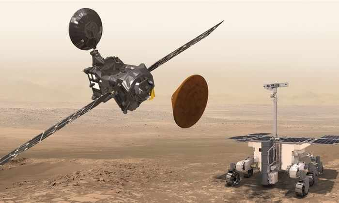 «Скиапарелли» не выходит на связь после приземления на Марс