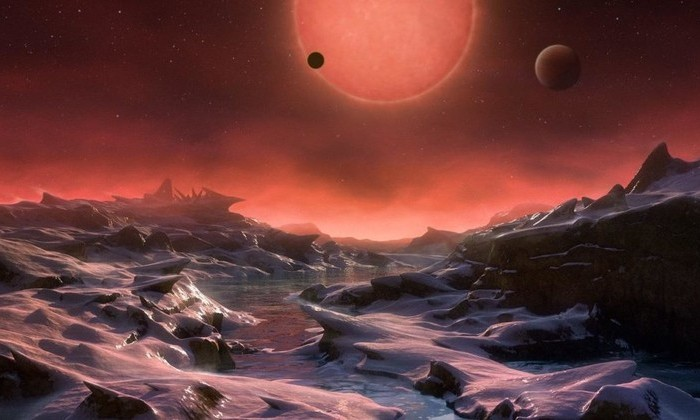 Возможный ландшафт на планете системы TRAPPIST-1