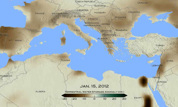 Карта засухи
