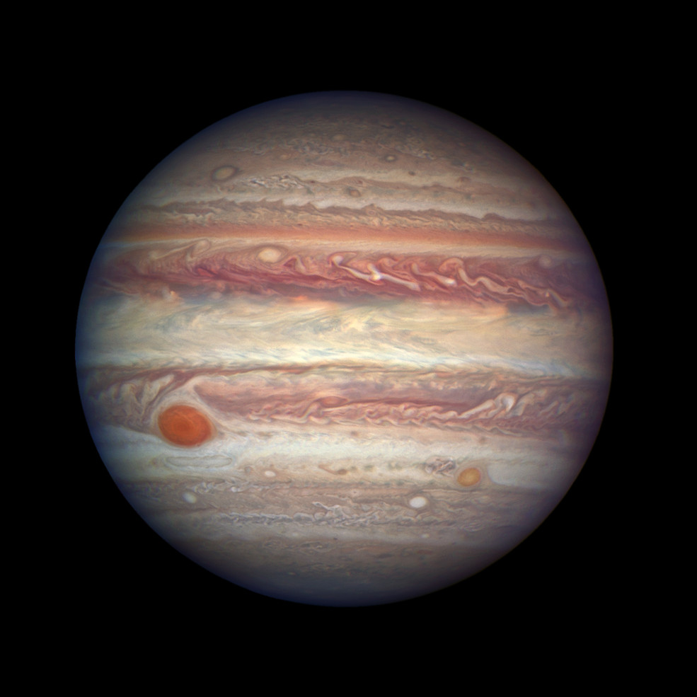 Телескоп Hubble сделал «портрет» Юпитера сблизкого расстояния