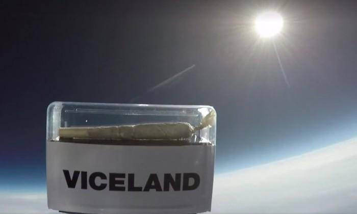 Видео: косяк с марихуаной запустили в космос в прямом эфире