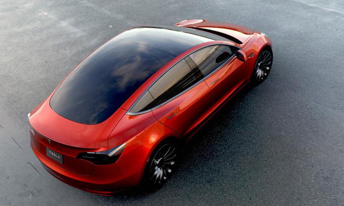 Прототип Tesla Model 3 начали тестировать на улицах калифорнийского города