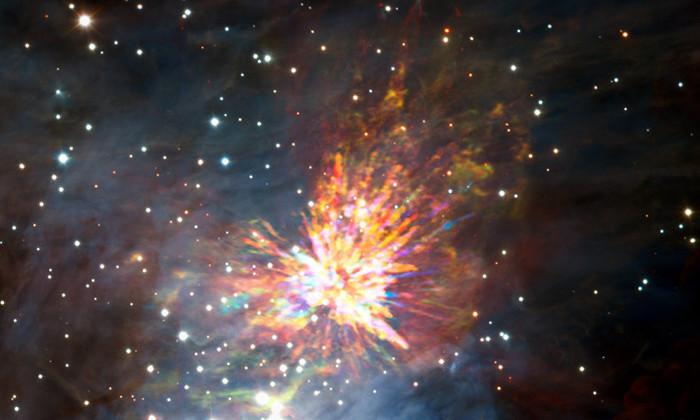 Астрономы впервые увидели взрыв новорожденной звезды
