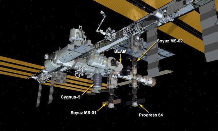 Транспортный грузовик Cygnus пристыковался к МКС