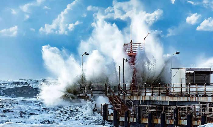 На Сочи обрушился ураган