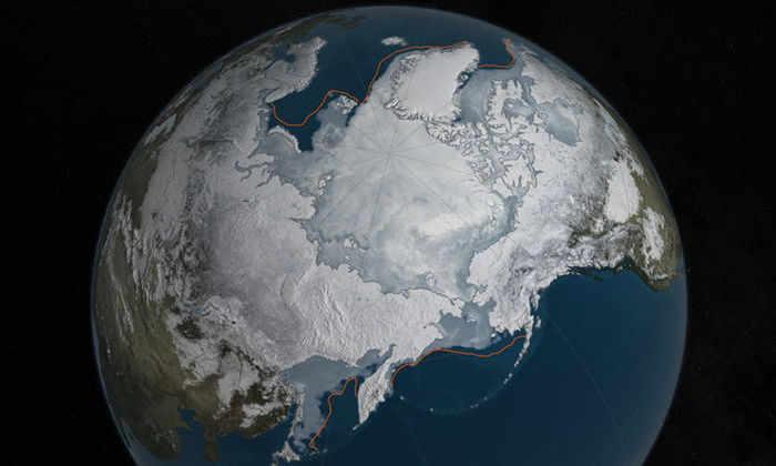 Льды Арктических морей стремительно тают