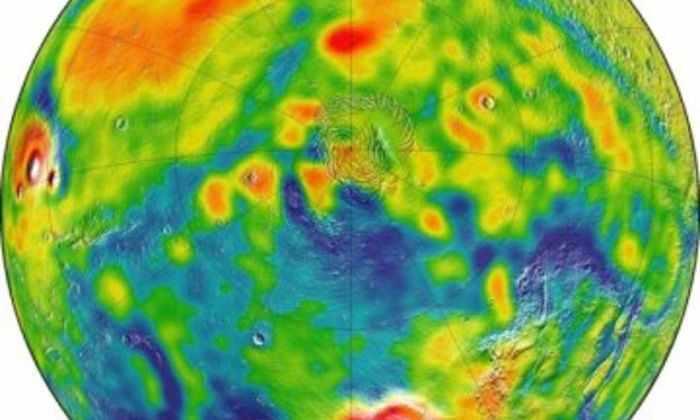 Составлена новая гравитационная карта Марса