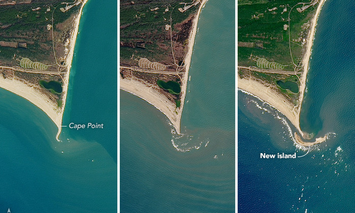 В США вырос новый остров. Буквально за месяц