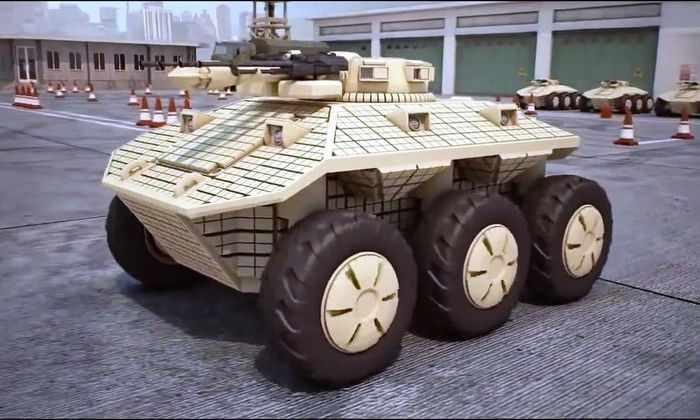 Российский наземный беспилотник успешно уничтожает солдат и технику НАТО