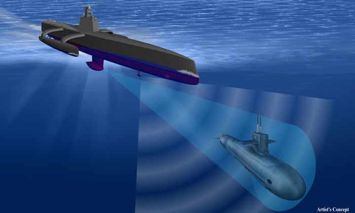 США создали судно-беспиотник для охоты на подводные лодки