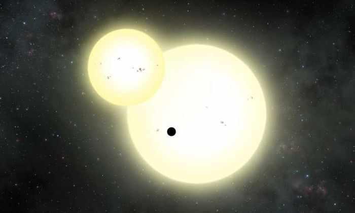 Обнаружена самая большая экзопланета, вращающаяся вокруг двойной звезды