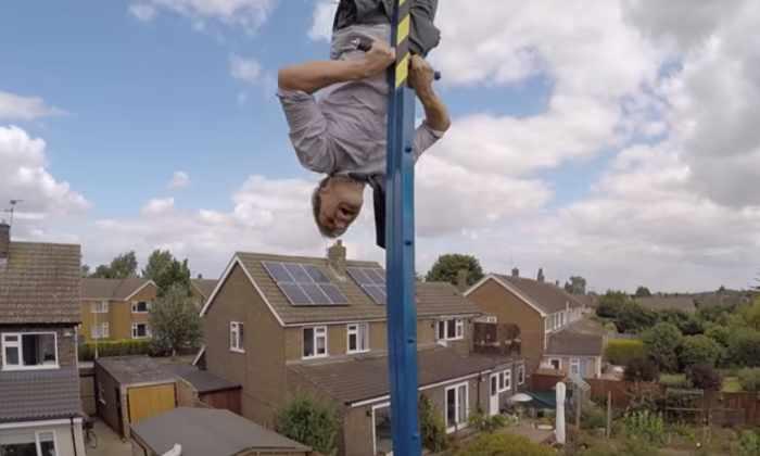 Ученый сделал качели 360 градусов высотой с собственный дом