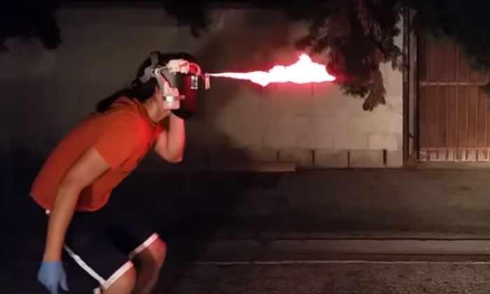 Шлем-огнемет даст вам силу Циклопа из «Людей Икс» без генных мутаций