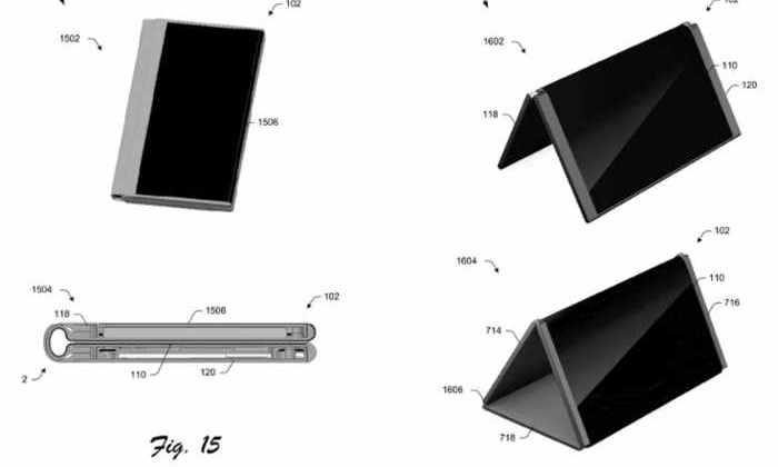 Microsoft запатентовала складной гибрид планшета и телефона