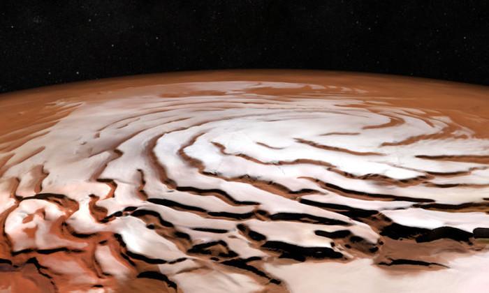 Булочка с корицей: получен новый снимок северной ледяной шапки Марса