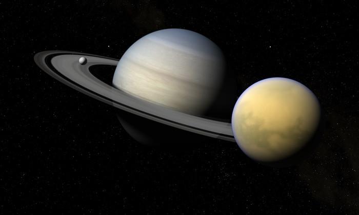 «Кассини» заснял метановые облака на спутнике Сатурна. Они бесконечные