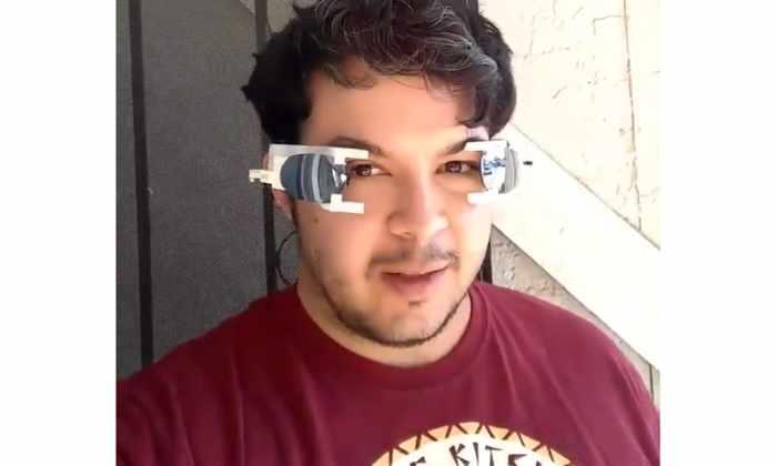 Молодой изобретатель разработал солнцезащитные очки-шторы