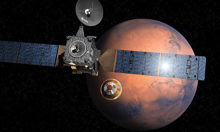 Установлена причина падения модуля «Скиапарелли» на Марс
