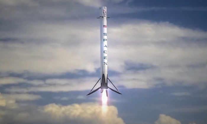 Видео неудачной посадки первой ступени Falcon 9
