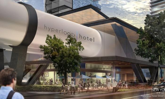 Путешествовать, не покидая номера: разработана концепция Hyperloop-отеля
