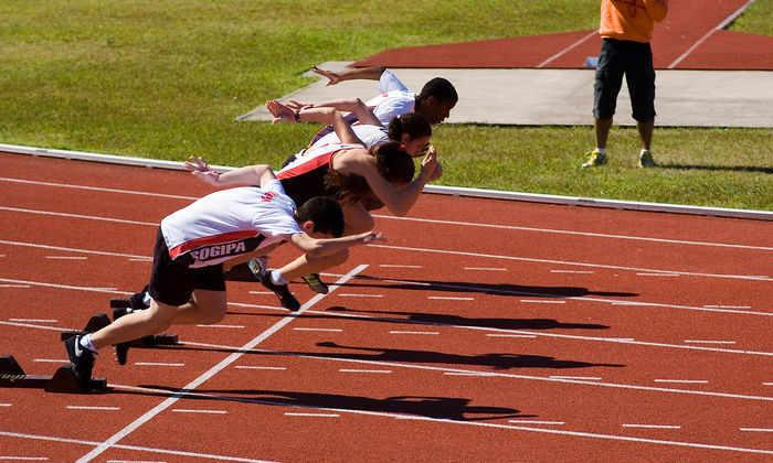 Как бегают спринтеры