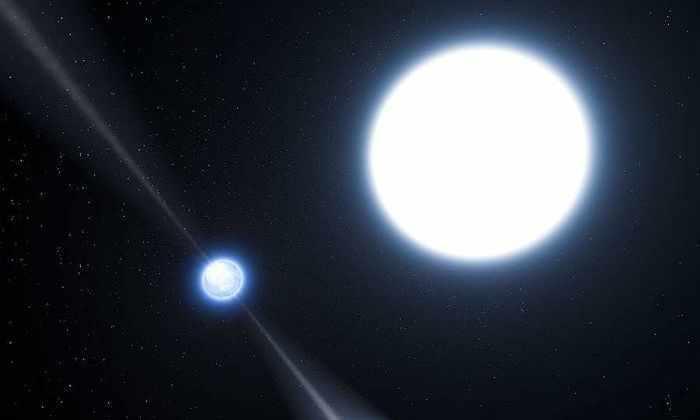 Обнаружена звезда с кислородной атмосферой