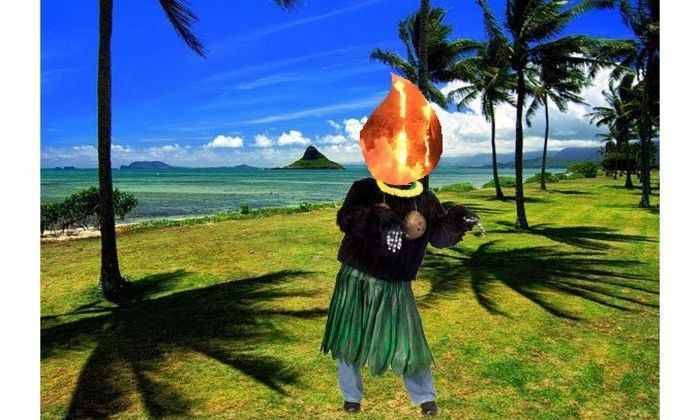 На Гавайях улыбается вулкан
