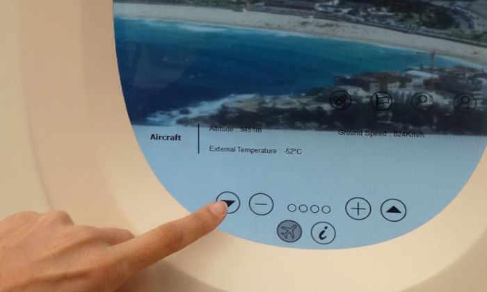 Во Франции сделали иллюминаторы-планшеты