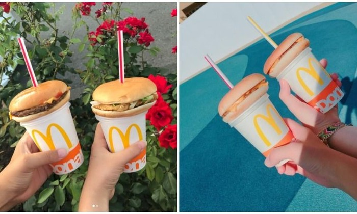 Новый японский мем: гамбургер через соломинку