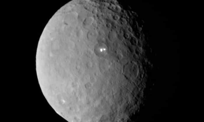 Яркие точки на поверхности Цереры постоянно перемещаются