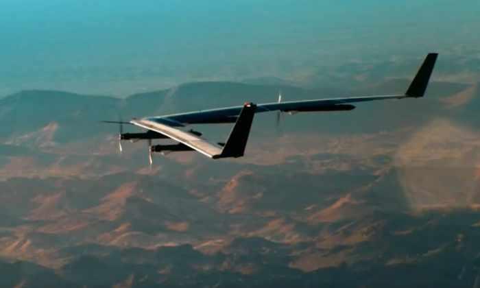 Facebook запустил свой первый интернет-дрон на солнечных батареях