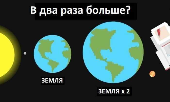 Что произойдет, если Земля увеличится вдвое?