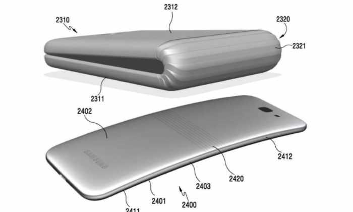 Samsung запатентовала гибкий складной смартфон