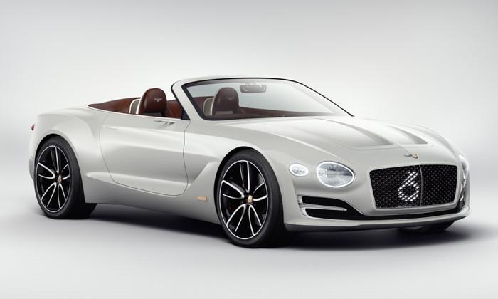 Bentley представила свой первый электрический кабриолет
