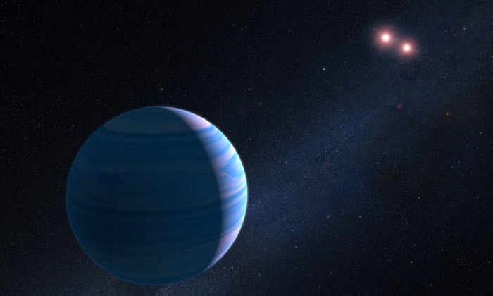 «Хаббл» нашел планету, вращающуюся вокруг двух звезд